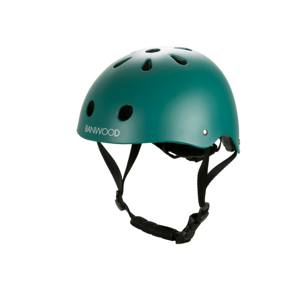 Banwood casco da bambino dark green con calotta ABS