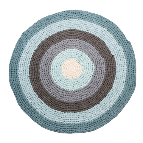Tappeto in Crochet - Pastel Blue