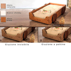 Lettino Montessoriano Classic Incastro a Pettine - Small