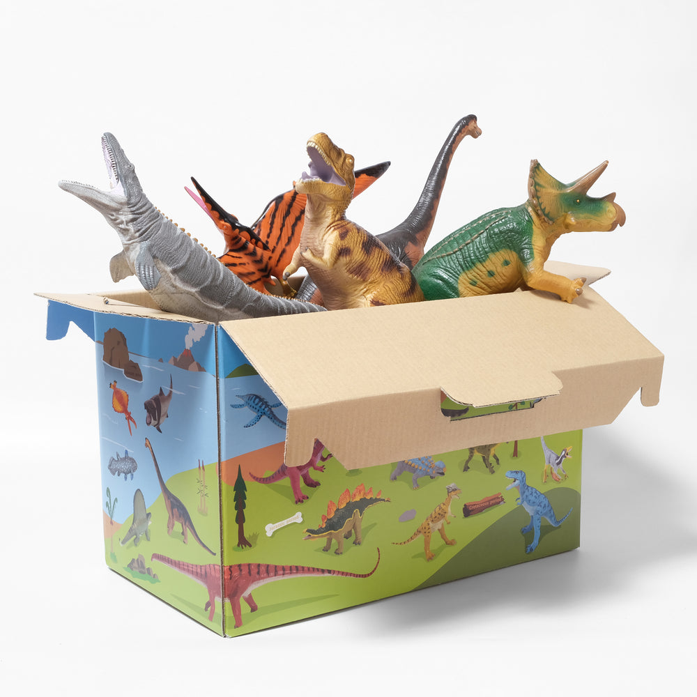 Load image into Gallery viewer, Vinyl Model Popular Dinosaurs 5-Pack