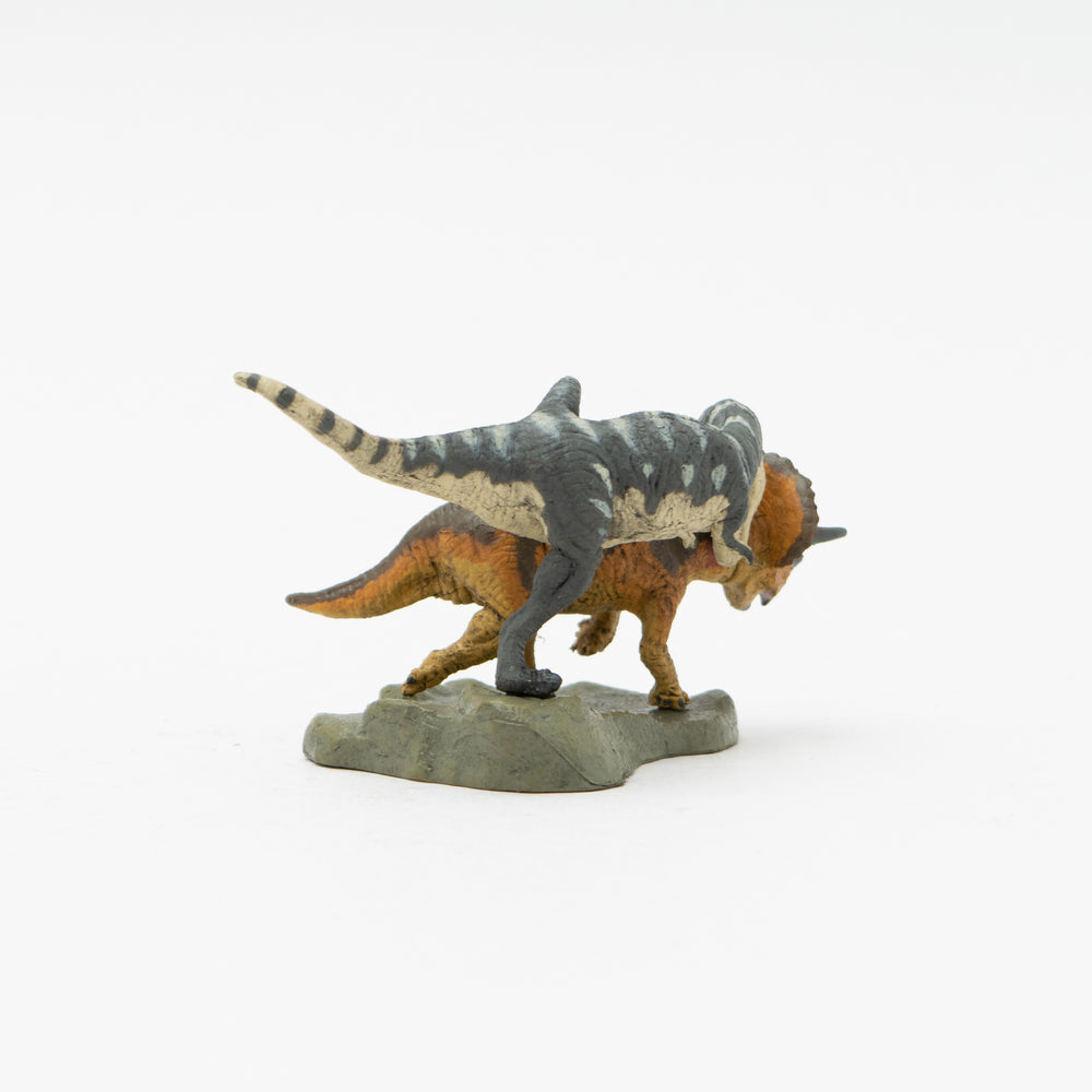 Load image into Gallery viewer, Tyrannosaurus vs Triceratops Mini Model