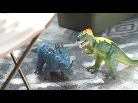 Load and play video in Gallery viewer, Tyrannosaurus Vinyl Model Red