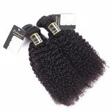 Puddinghair 8A Kinky Curly Brazilian 3 Bundles Virgin Hair Peruvian Hair Weave
