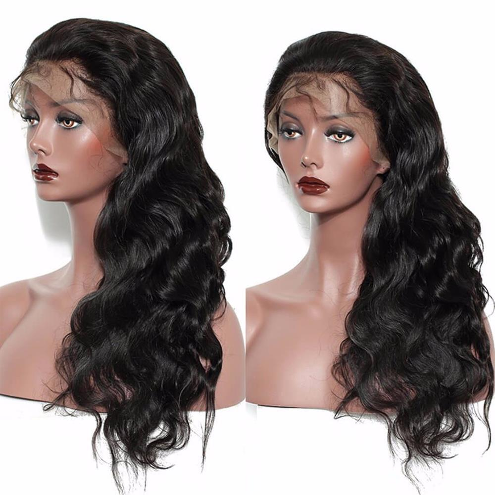 Puddinghair Brazilian Long Body Wave Virgin Human Hair Full Lace Wig 150% Density