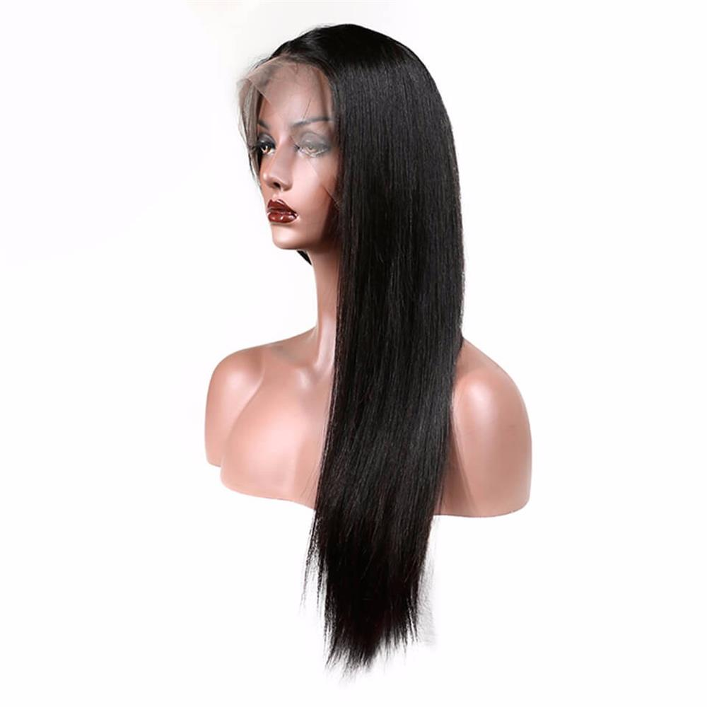 Puddinghair Brazilian Long Straight Virgin Human Hair Full Lace Wig 150% Density