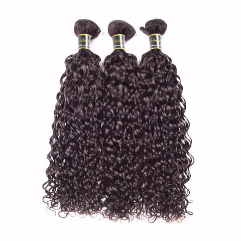Puddinghair 8A Brazilian/Peruvian Water Wave 1 Bundle Virgin Human Hair