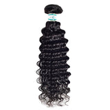 Lakihair 8A Grade Human Hair Weaving Deep Wave 1 Bundle Deals Virgin Human Hair Extensions