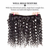 Lakihair 10A Top Quality 1 Bundles Brazilian Virgin Human Hair Extensions Deep Wave Hair Bundles