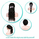 Puddinghair Virgin Human Hair Body Wave 360 Lace Frontal Wig