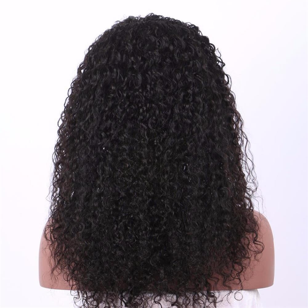 Puddinghair 100% Human Hair Kinky Curly Medium Length 360 Lace Front Wigs