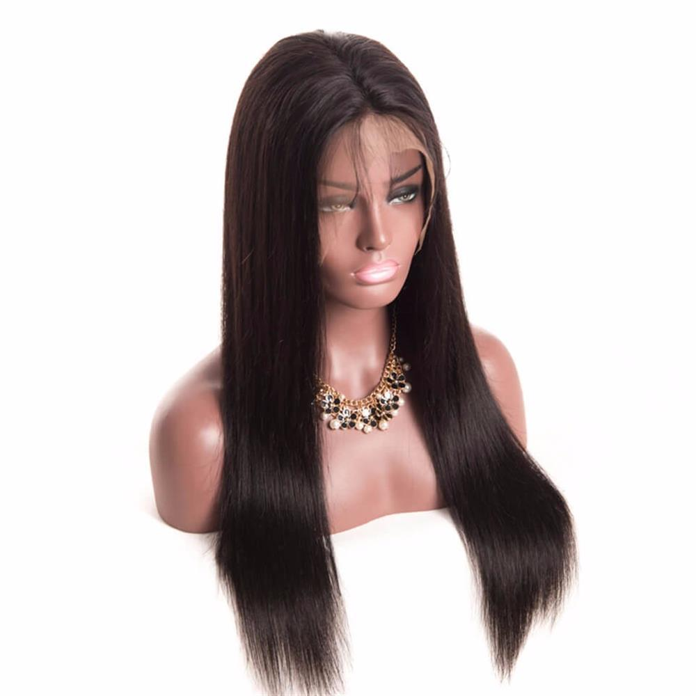 Puddinghair 100% Human Hair Soft Long Straight 360 Lace Cap Wig 10-22 Inches