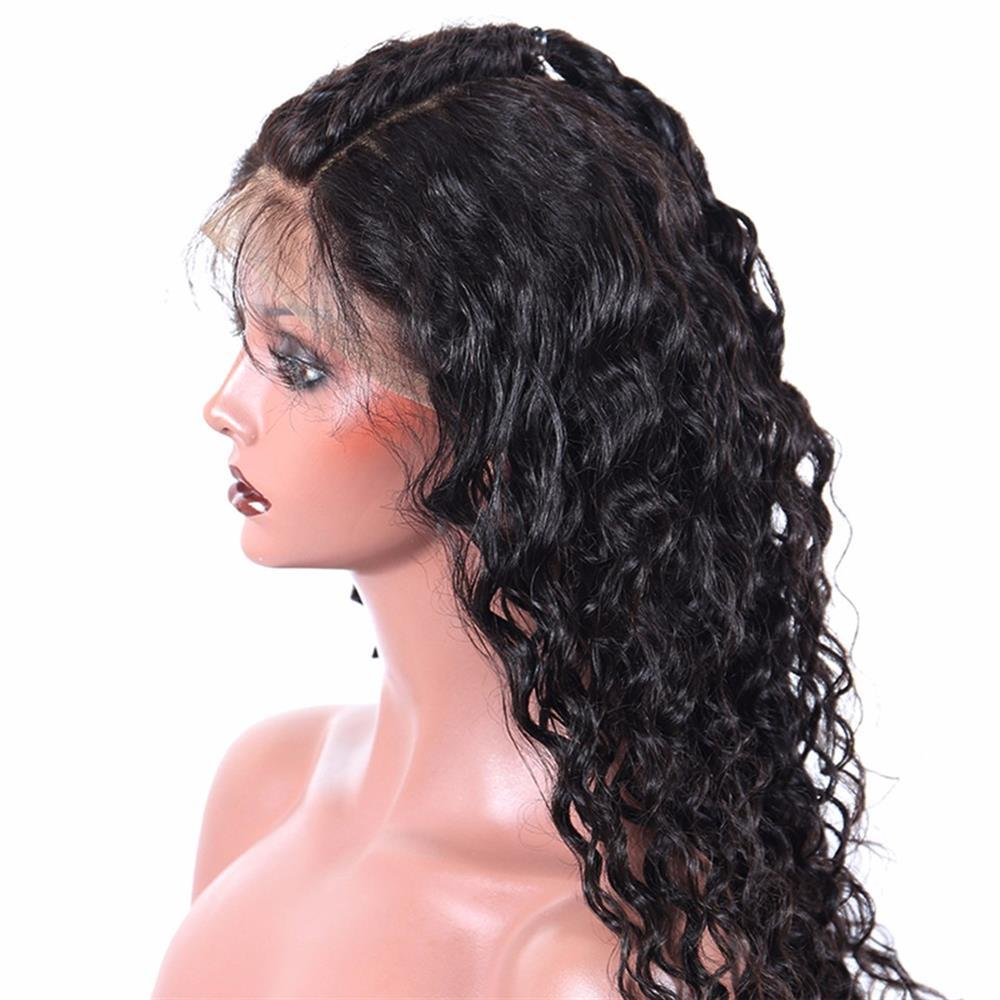 Puddinghair 360 Lace Front Wig Deep Wave Human Hair Wigs Natural Black