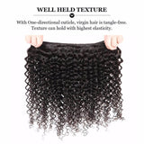 Puddinghair 8A Brazilian 3 Bundles Virgin Kinky Curly Hair with 4x4 Lace Closure