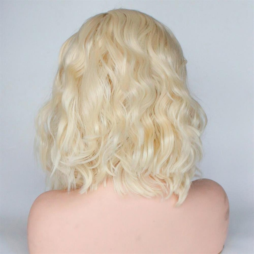 Puddinghair 613 Blonde Short Body Wave Human Hair Bobo Wig Without Bangs
