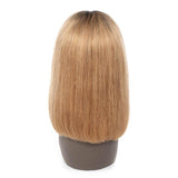 Puddinghair Ombre Blonde 1B/27 Colored Wig Lace Frontal Straight Hair Bob Wig