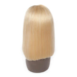 Puddinghair 613 Blonde Short Straight Human Hair Bobo Wig Without Bangs