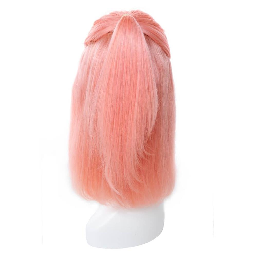 Puddinghair Blonde Color Wig Lace Frontal Straight Hair Bob Pink Wig For Women