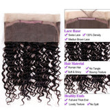 Puddinghair 8A Grade Virgin Human Hair 2 Bundles With 360 Lace Frontal Deep Wave Hair Extensions Pre Plucked With Baby Hair