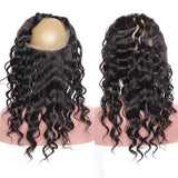 Puddinghair 8A Grade Loose Wave Virgin Human Hair 2 Bundles With 360 Lace Frontal Pre Plucked With Baby Hair