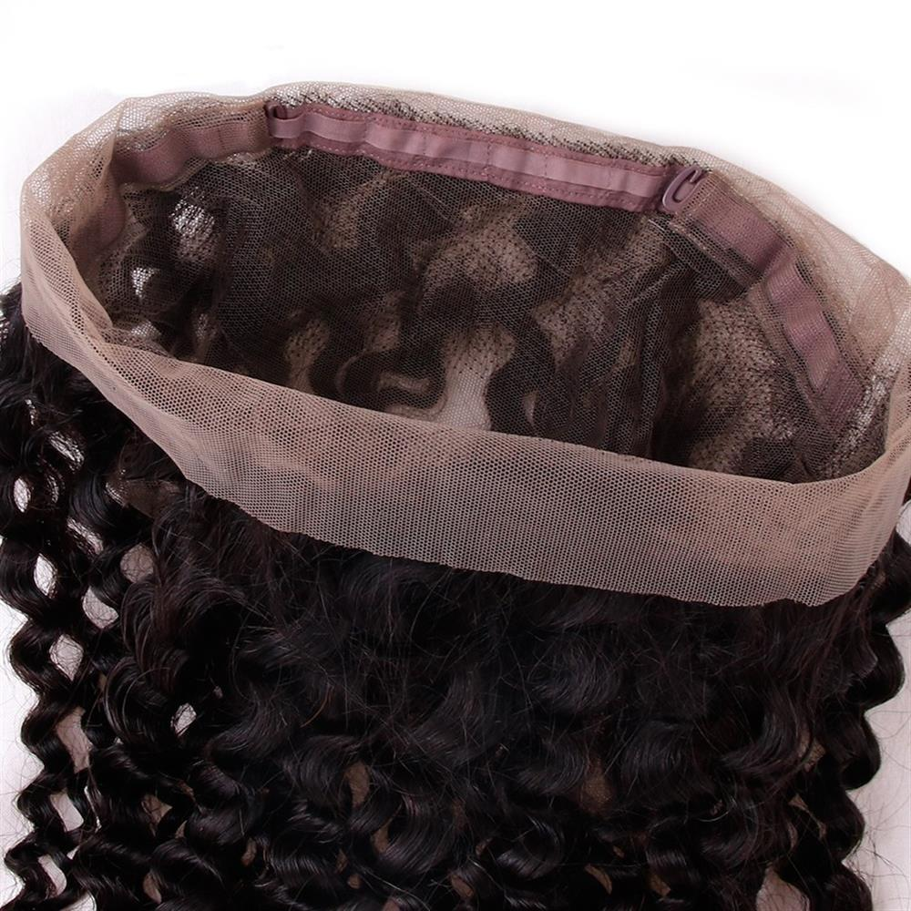 Puddinghair 8A Grade Virgin Human Hair Kinky Curly Hair Extensions 2 Bundles With 360 Lace Frontal