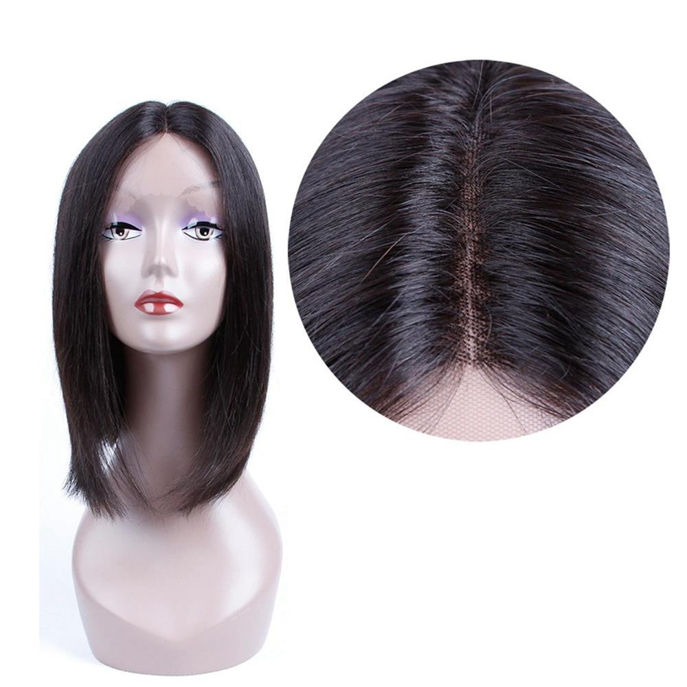 Puddinghair 100% Straight Virgin Human Hair U Part Short Bob Lace Front Wigs