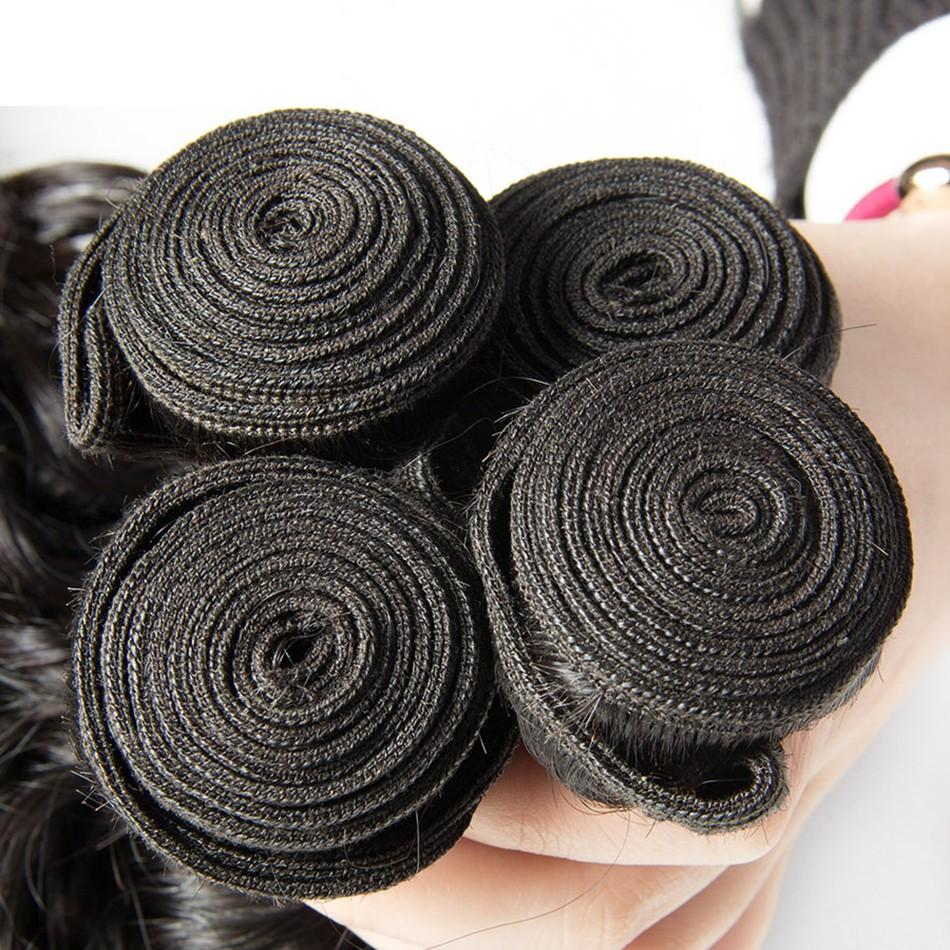 Puddinghair 8A 4pcs Product Brazilian Natural Wave Virgin Hair Extensions