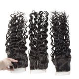 Puddinghair 8A Brazilian Free Part Natural Wave Hair 4X4 Lace Closure