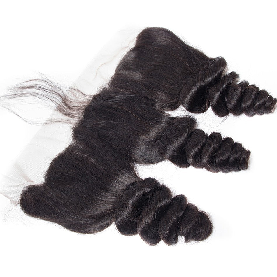 Puddinghair 8A Brazilian Wavy Hair Lace Frontal Hair Closure Loose Wave