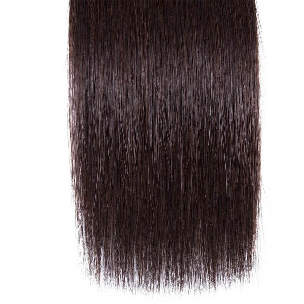 Lakihair Brazilian Straight Hair Color 2 Virgin Human Hair 1 Bundle 2# Colored Hair Weave 10A Hair