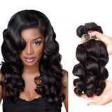 Puddinghair 8A Brazilian 3 Bundles Hair Products Peruvian Loose Wave