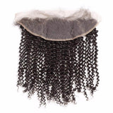 Puddinghair 8A Brazilian Curly Hair 13x4 Lace Frontal Hair Closure Kinky Curly