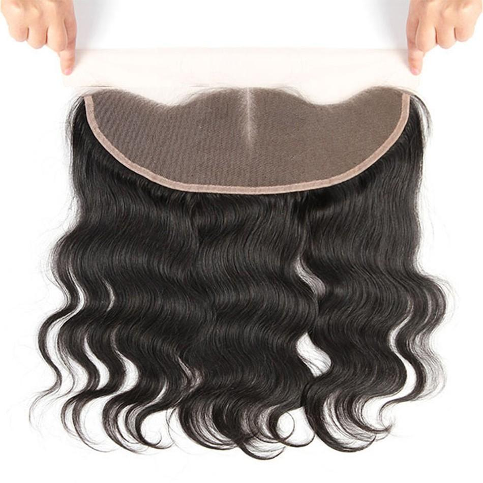 Puddinghair 8A 3pcs Body Wave Peruvian Hair Weft With Lace Frontal Closure