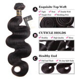 Puddinghair 8A Brazilian/Peruvian 1 Bundle Virgin Human Hair Body Wave