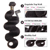 Puddinghair 8A Brazilian Human Hair 4 Bundles Peruvian Body Wave Virgin Hair