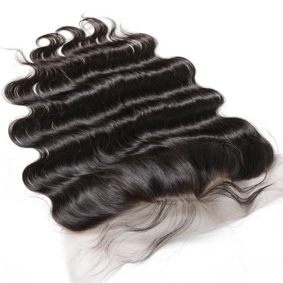 Puddinghair 8A Brazilian 3 Bundles Loose Wave Human Hair With Lace Frontal Closure