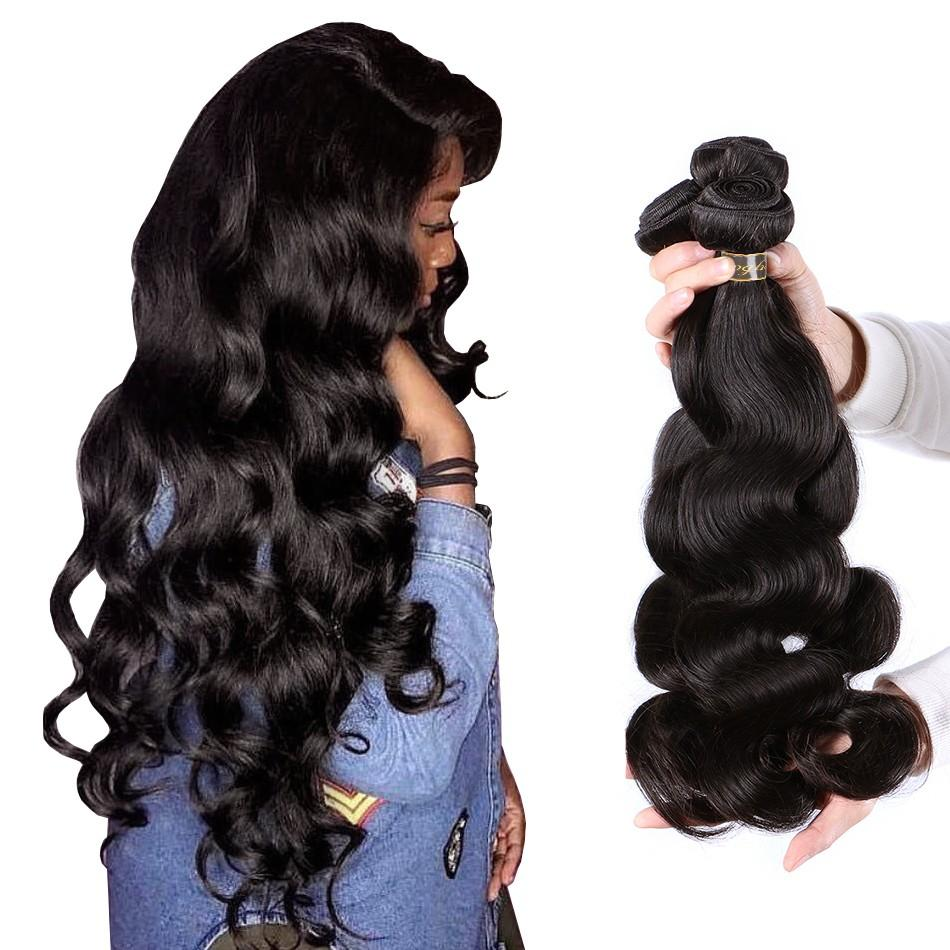 Puddinghair 8A Brazilian 100% Virgin Human Hair Body Wave Peruvian Hair 3 Bundles