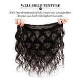 Puddinghair 8A Peruvian Body Wave 4 Bundles Virgin Human Hair With 4x4 Lace Closure