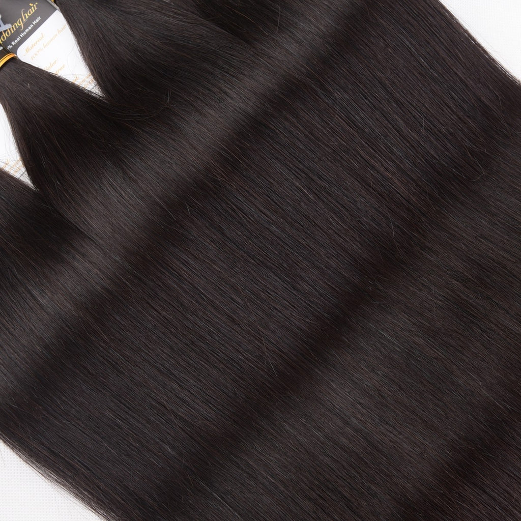 Puddinghair 8A Brazilian Straight Hair 4 Bundles Peruvian Virgin Human Hair Weave