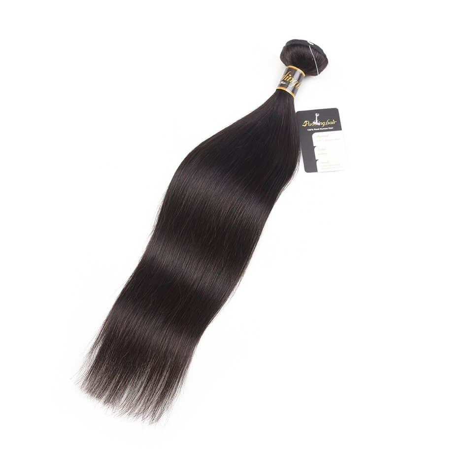Puddinghair 8A Brazilian/Peruvian Straight Human Virgin Hair 1 Piece