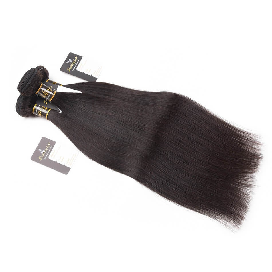 Puddinghair 8A Brazilian Hair 3pcs Straight Human Hair Extension Peruvian Hair Weave