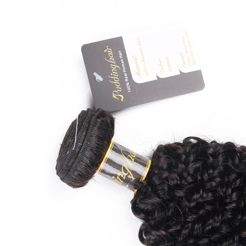 Puddinghair 8A Brazilian/Peruvian 1 pcs Curly Virgin Human Hair Jerry Curly Bundles