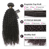 Puddinghair 8A Jerry Curly Brazilian 3 Bundles Virgin Hair Peruvian Hair Weave