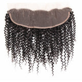 Puddinghair 8A Peruvian Jerry Curly 3 Bundles Human Hair With Lace Frontal Closure