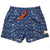 MENS STRETCHY TRUNKS from Recycled Plastic Bottles, NEW WAVE, FRONT, by South Beach Boardies.