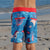 South Beach Boardies Kids Going Out Boardshorts recycled plastic Godzilla back view