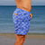 Eco-Friendly Mens Retro Trunks Boardies recycled plastic bottles, in Palmageddon right side view
