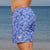 Eco-Friendly Mens Retro Trunks Boardies recycled plastic bottles, in Palmageddon side view