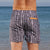 South Beach Boardies Mens Retro Trunks recycled Tribal back view