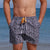 South Beach Boardies Mens Retro Trunks recycled Tribal front view