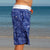 SBB Mens Surfer Boardies from recycled plastic bottles, in Sea Dragon print. Side view